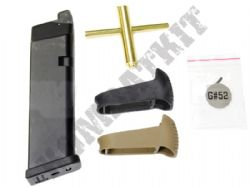 MG-G17C WE Airsoft Co2 Magazine Kit for EU & G Series Glock Replica Gas Blowback Pistol BB Guns